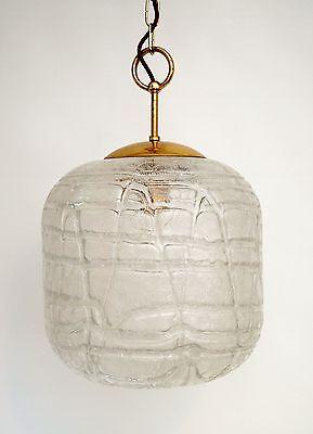 Sehr große original 70er Jahre Deckenlampe Hängelampe retro Glas 4