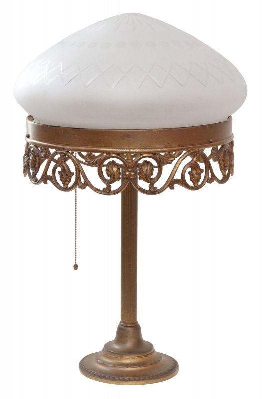Prachtvolle original Jugendstil Schreibtischlampe Messinglampe Berlin 1920