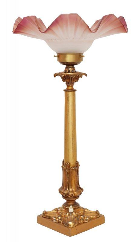Einzigartige original Jugendstil Salonlampe Leuchte Lampe Messing Berlin 1910