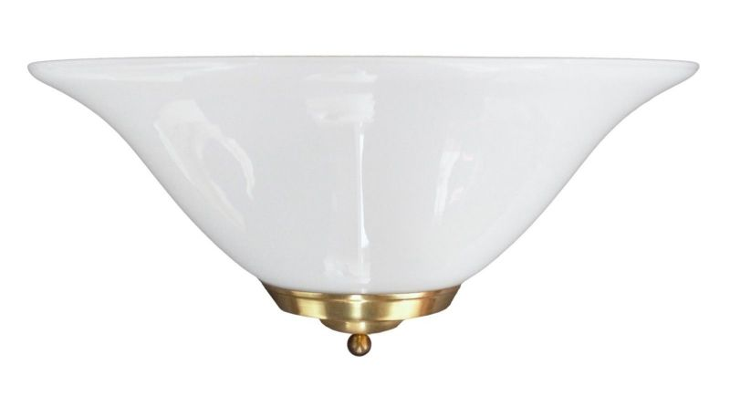Elegante Landhaus Wandleuchte Opalglas Wandlampe Plafoniere Plafonier