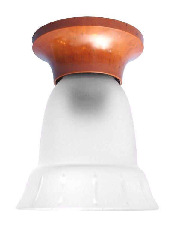 Original Jugendstil Art Deco Deckenlampe Bakelit Glas um 1920 Hängelampe rar