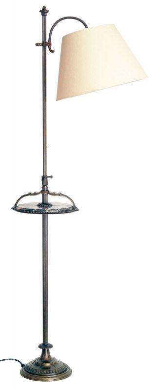Einmalige original Jugendstil Art Déco Stehlampe Bronze Mamor neuer Schirm