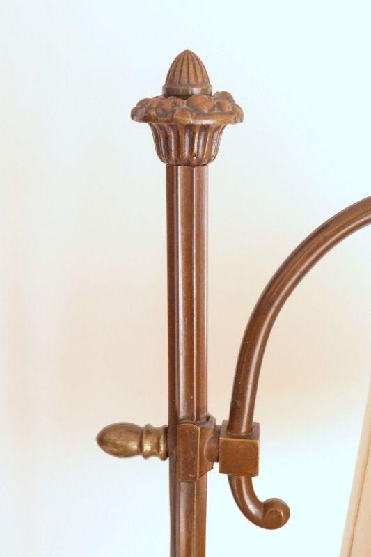 Einmalige original Jugendstil Art Déco Stehlampe Bronze Mamor neuer Schirm 6