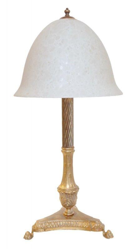 Riesige prunkvolle original Jugendstil Salon Tischlampe 1920
