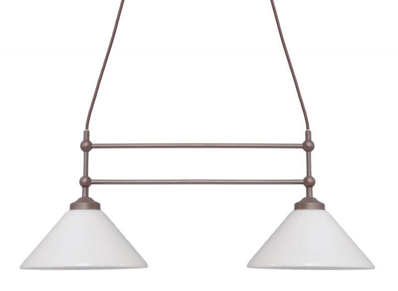 Klassische Jugendstil Deckenlampe Landhaus Messing Berlin neue Textil-Kabel