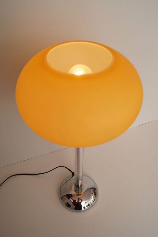 Original italienische 80er PRANDINA Designer Leuchte Plexiglas Chrom Klassiker 2