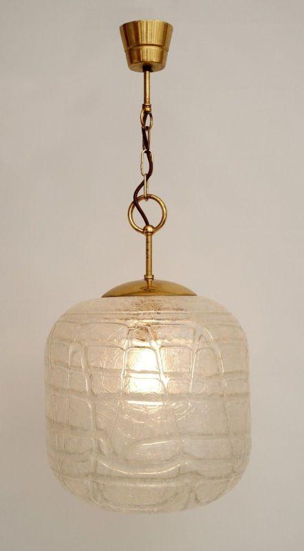 Sehr große original 70er Jahre Deckenlampe Hängelampe retro Glas