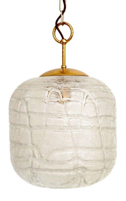 Sehr große original 70er Jahre Deckenlampe Hängelampe retro Glas 1