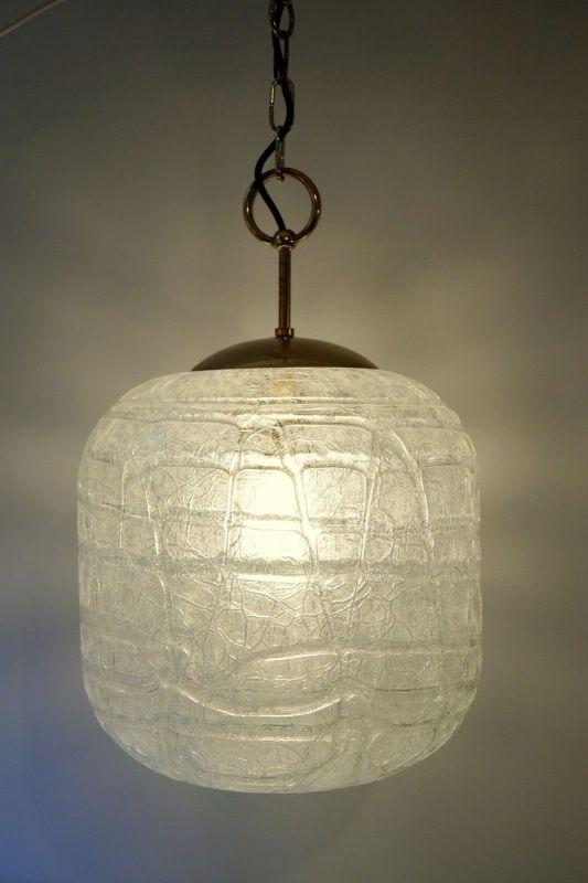 Sehr große original 70er Jahre Deckenlampe Hängelampe retro Glas 3