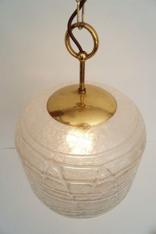 Sehr große original 70er Jahre Deckenlampe Hängelampe retro Glas 5