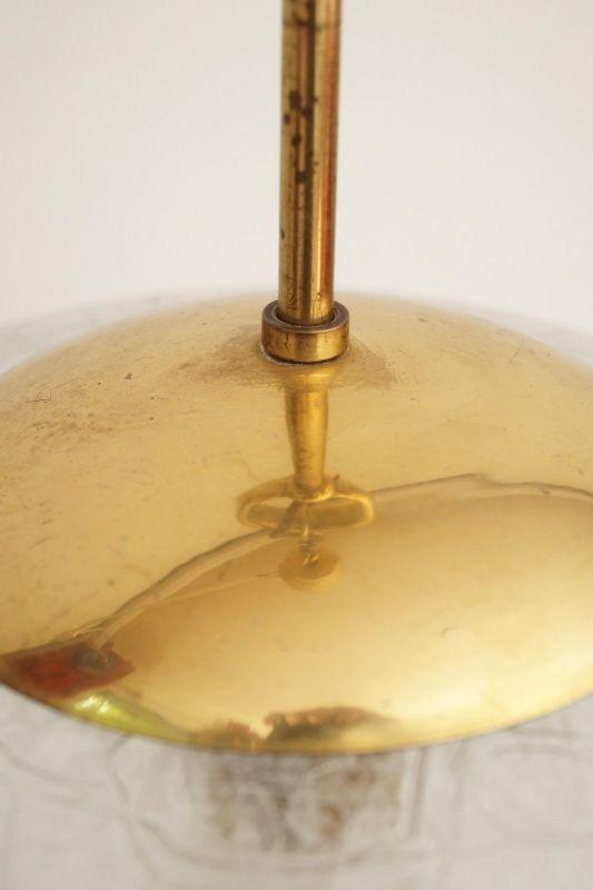 Sehr große original 70er Jahre Deckenlampe Hängelampe retro Glas 7