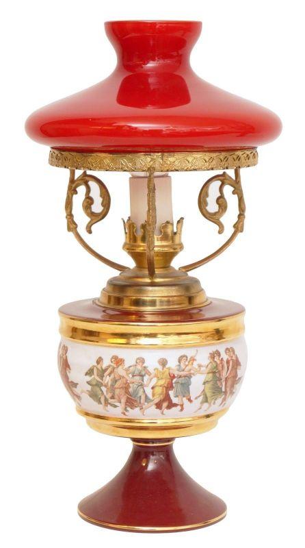 Italienische Stil Leuchte Petroleum Stil Jugendstil Amphore 1960er Jahre Keramik