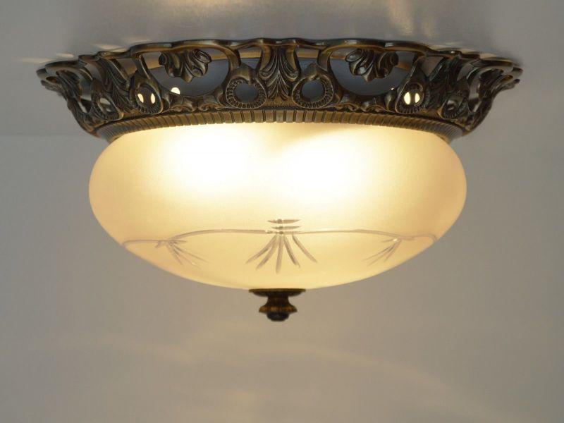 Deckenlampe Jugendstil Plafoniere : Jugendstil plafoniere deckenlampe wandleuchte plafonier messing