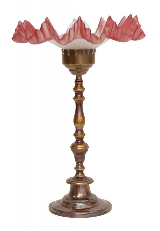 Wunderschöne original Jugendstil Tischleuchte Tischlampe Messinglampe