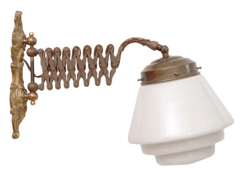 Orig. Jugendstil Art Déco Scherenlampe Arbeitsleuchte 1930 Wandlampe Industrie