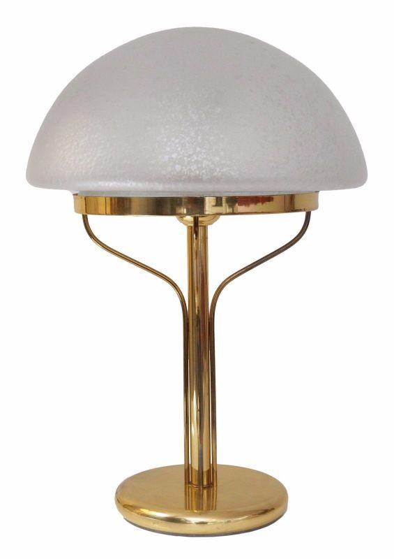 Sehr elegante Art Deco Bankerlampe Pilzleuchte Tischlampe Messing