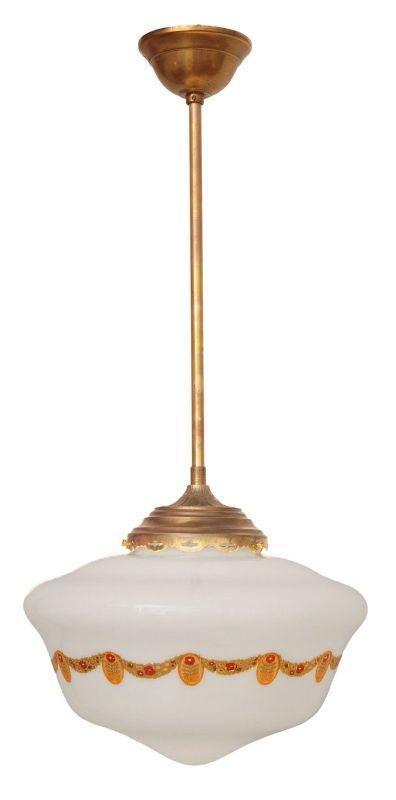 Wunderschöne original Jugendstil Landhaus Deckenleuchte Hängelampe Deckenlampe