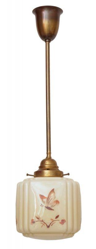 Einmalig schöne orig. Jugendstil Art Déco Hängeleuchte Deckenlampe Flurleuchte