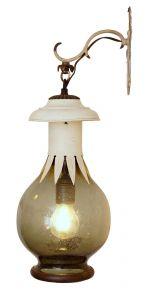 Wunderschöne Jugendstil Landhaus Wandleuchte Laterne Wandlampe