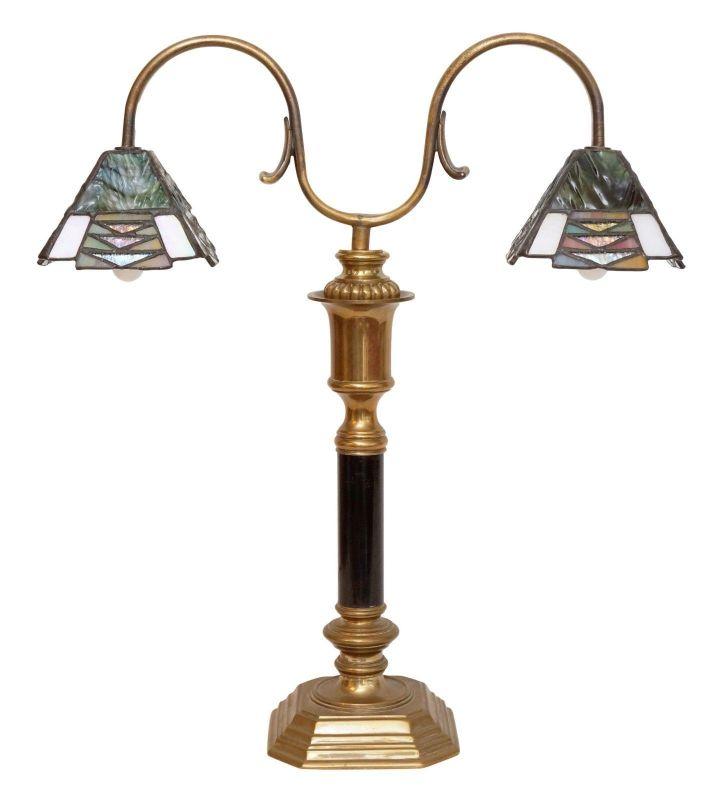 Wunderschöne Jugendstil Landhaus Schreibtischlampe Contor Leuchte Tiffany