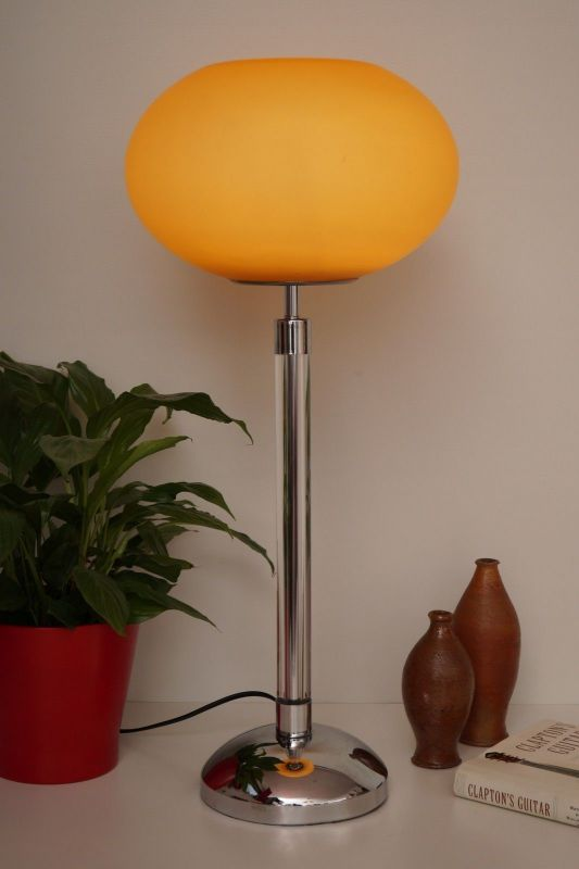 Original italienische 80er PRANDINA Designer Leuchte Plexiglas Chrom Klassiker