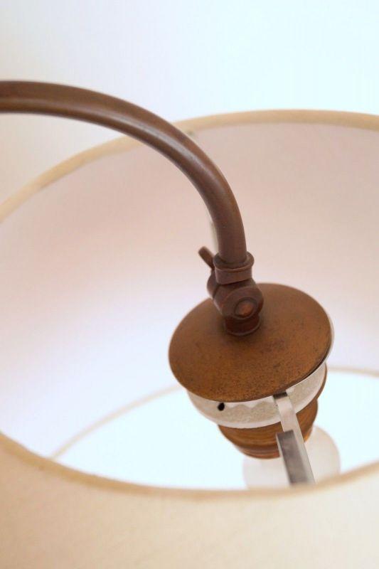 Einmalige original Jugendstil Art Déco Stehlampe Bronze Mamor neuer Schirm 7