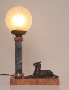 Original Art Nouveau Tischlampe