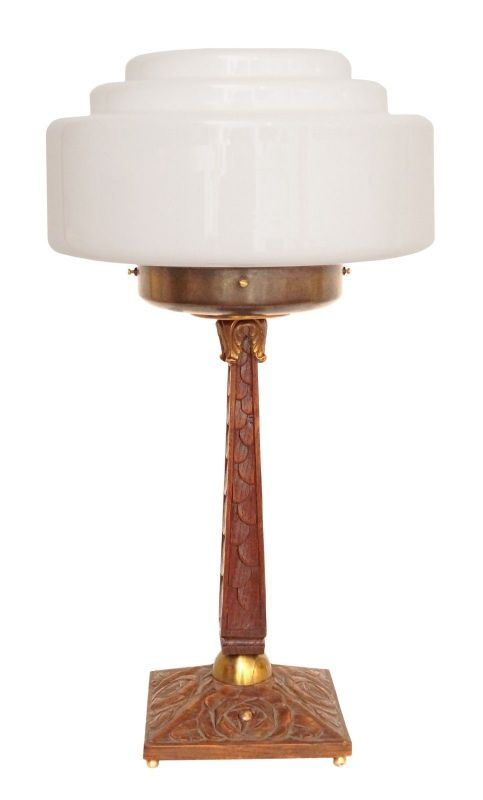 Prachtvolle original Art Déco Schreibtischlampe um 1930