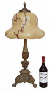 Riesige original Jugendstil Prachtleuchte Tischlampe Bronze Lampe 1920 78 cm