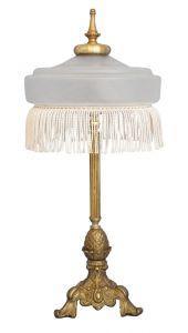 Original Art Nouveau Jugendstil Schreibtischleuchte Tischlampe 1920 Messing