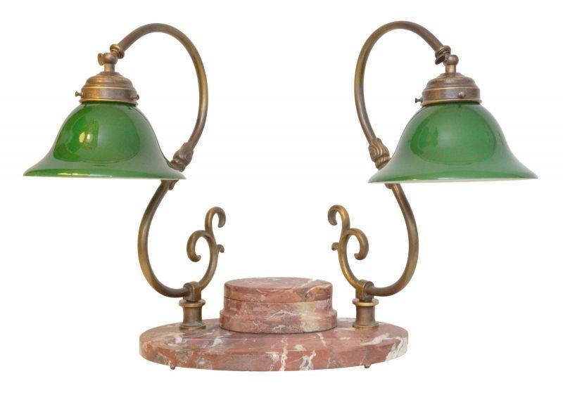 Bankerleuchte Einzigartige original Jugendstil Schreibtischleuchte um 1920 Lampe