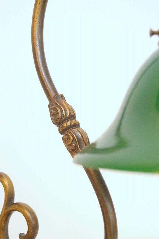 Bankerleuchte Einzigartige original Jugendstil Schreibtischleuchte um 1920 Lampe 10