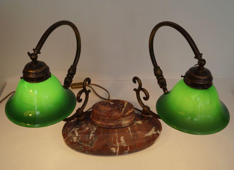 Bankerleuchte Einzigartige original Jugendstil Schreibtischleuchte um 1920 Lampe 4