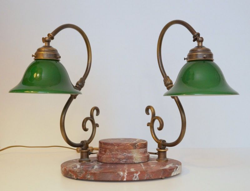 Bankerleuchte Einzigartige original Jugendstil Schreibtischleuchte um 1920 Lampe 5