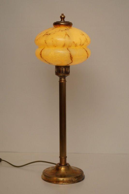 Einmalige original Art Deco Tischleuchte Schreibtischlampe Messing Berlin