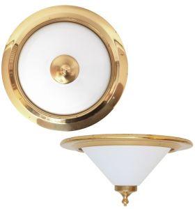 80er Jahre Plafoniere Deckenleuchte Deckenlampe Wandlampe Messing