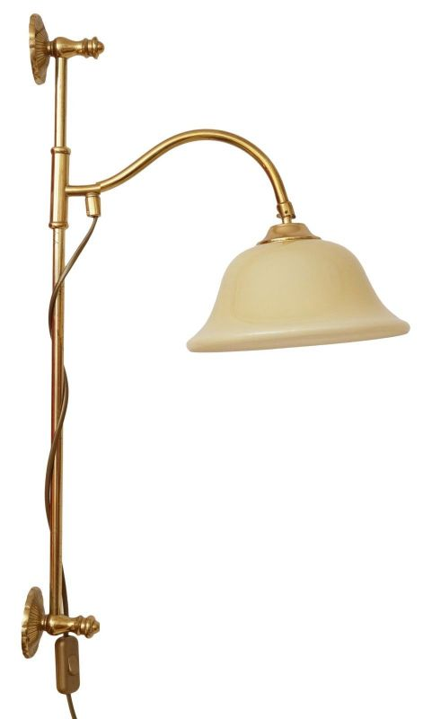 Elegante Jugendstil Messinglampe Berlin Wandleuchte Wandlampe Leseleuchte