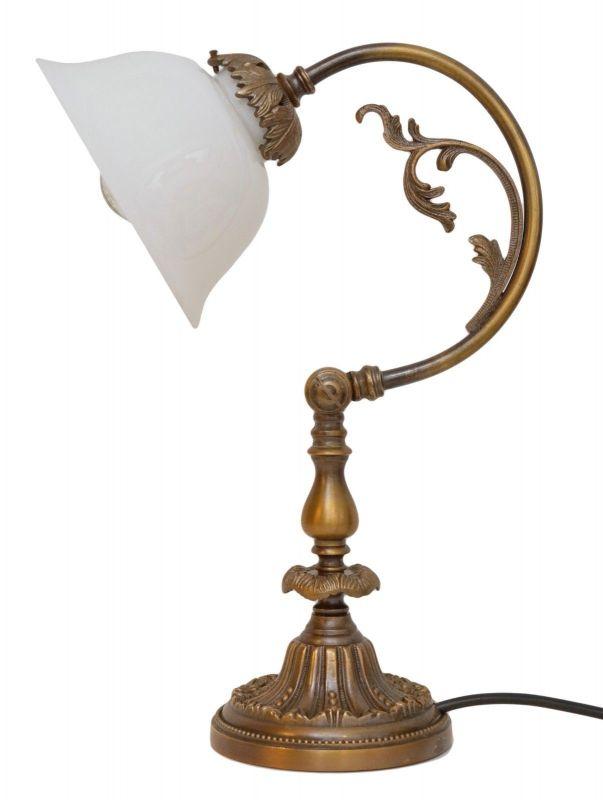 Wunderschöne Jugendstil Messinglampe Berlin Unikat Tischleuchte Schreibtisch