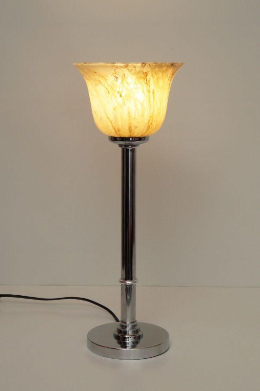 Elegantes Unikat, Bauhaus Art Deco Tischleuchte Schreibtisch Lampe Chrom Berlin