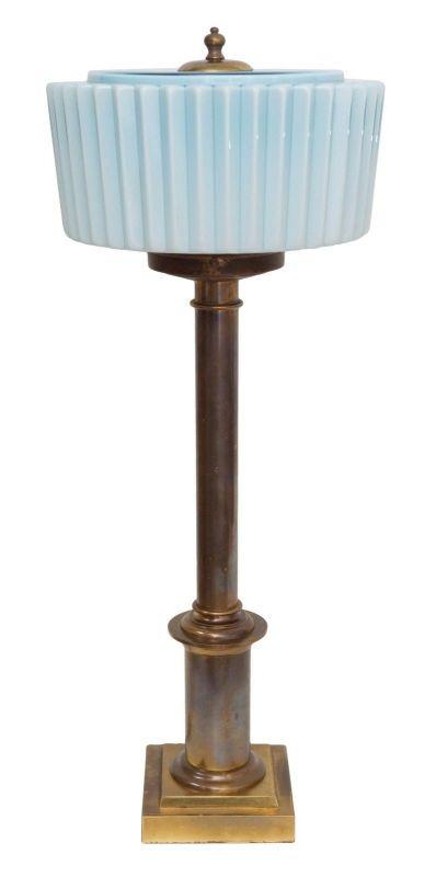 Riesige original Art Déco Tischleuchte Salonlampe Schreibtisch 1930 Messing