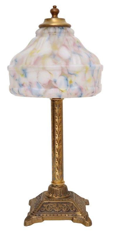Elegante Jugendstil Art Déco Tischleuchte Tischlampe Berlin Messinglampe
