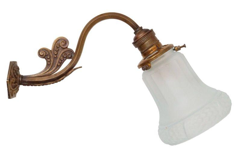 Original Jugendstil Wandlampe Wandleuchte Messinglampe Berlin 1900