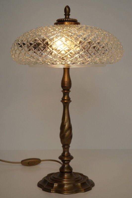Sehr elegante Jugendstil Kaffeehausleuchte Schreibtischlampe Messing
