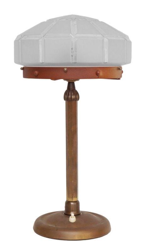 Herrliches Einzelstück orig. Jugendstil Schreibtischlampe Tischleuchte Messing