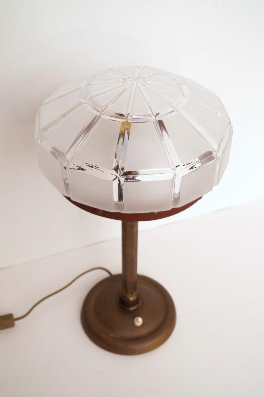 Herrliches Einzelstück orig. Jugendstil Schreibtischlampe Tischleuchte Messing 5