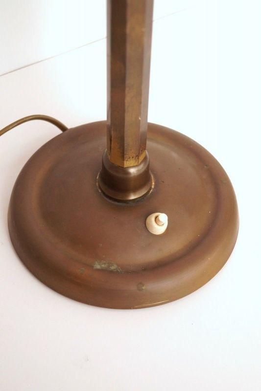 Herrliches Einzelstück orig. Jugendstil Schreibtischlampe Tischleuchte Messing 6