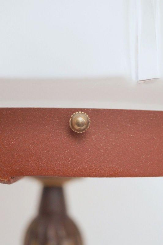 Herrliches Einzelstück orig. Jugendstil Schreibtischlampe Tischleuchte Messing 8