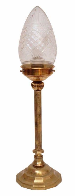 Elegante original Art Déco Art Nouveau Messinglampe Tischlampe