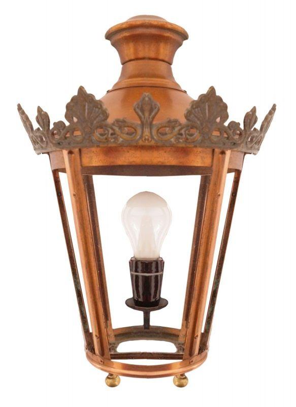 Tolle Jugendstil Landhaus Wandleuchte Laterne Wandlampe Spiegel um 1940
