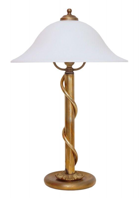Wunderschöne 70er Jahre Design Messing Salon Tischlampe Schreibtischleuchte